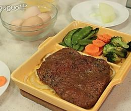 烤牛排简餐的做法