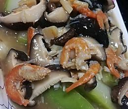 海米干贝冬菇扒节瓜的做法