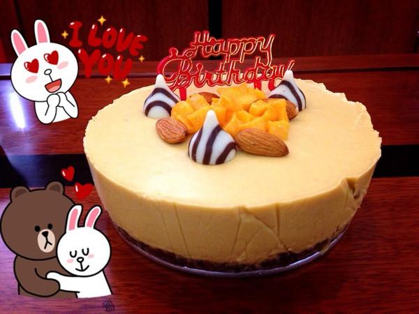 芒果芝士生日蛋糕