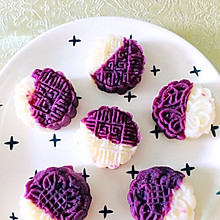 超快自制山药紫薯糕点