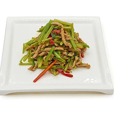 肉丝红椒炒芹菜