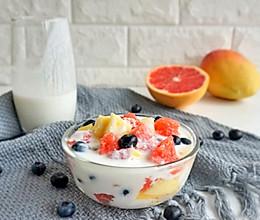 网红甜品自酿酸奶水果捞(附自酿酸奶方法)的做法