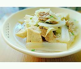 白菜炖冻豆腐#我要上首页挑战家常菜#的做法