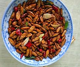 香辣金丝蛹的做法