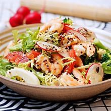 清爽减脂的鲜虾藜麦轻食沙拉