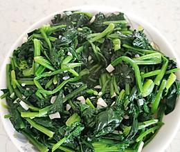 蒜蓉菠菜的做法