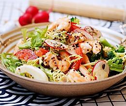 清爽减脂的鲜虾藜麦轻食沙拉的做法