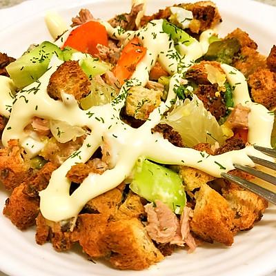 【金枪鱼沙拉】ˊ_>ˋ瘦身餐。一步Get!