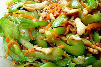 芹菜胡萝卜丝炒肉