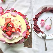 情人节玫瑰红丝绒蛋糕