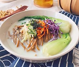 #中秋团圆食味#减脂餐 豆浆荞麦面 清爽可口低卡的做法