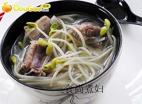 黄豆芽排骨汤的做法