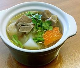 清炖羊肉汤--冬季暖身的做法