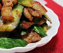 青瓜虾酱小炒肉的做法