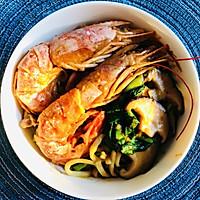 香菇虾鸡汤面的做法图解17
