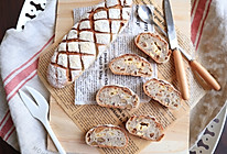 长帝蒸烤箱食谱-核桃红枣乳酪欧包的做法