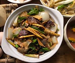 竹笋炒腊肠的做法