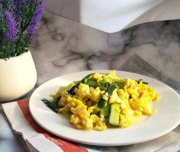 #父亲节,给老爸做道菜#黄瓜炒鸡蛋的做法