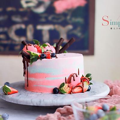 渲染奶油蛋糕