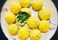 小白菜虾皮馅玉米面菜团子的做法