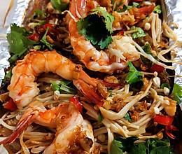 #中秋团圆食味#青岛+蒜蓉烤虾的做法