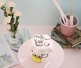 #硬核菜谱制作人# 卡通转印奶油蛋糕的做法
