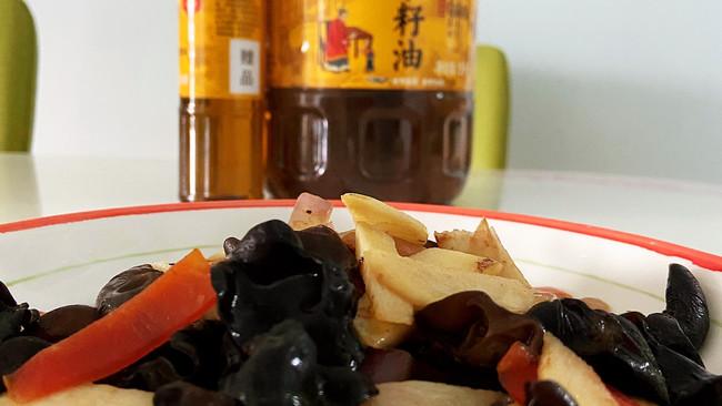 #福气年夜菜#山药炒木耳的做法