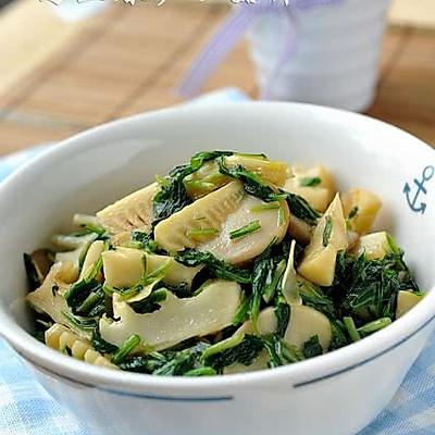 马兰春笋炒菇片