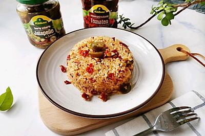 #肉食者联盟#鸡胸肉酸辣椒炒饭-不一样的炒饭,酸香鲜美