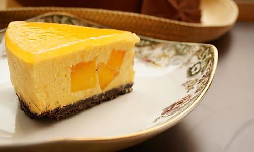 芒果酸奶冻芝士(六寸)的做法
