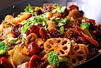 蟹腿菇麻辣锅的做法