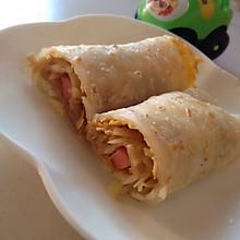 爱心早餐:鸡蛋土豆丝火腿煎饼~