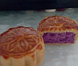 自制紫薯月饼(超级简单哦)的做法