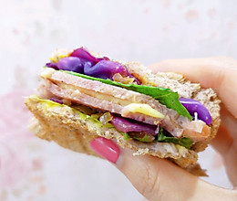 快手热压三明治的做法