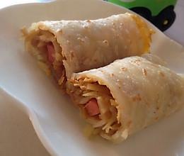 爱心早餐:鸡蛋土豆丝火腿煎饼~的做法