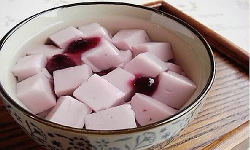 蓝莓豆腐的做法