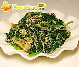 微波凉拌芝麻菠菜的做法