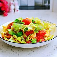 #餐桌上的春日限定#番茄鸡蛋炒圆白菜
