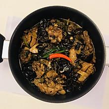 木耳香菇炖/炒鸡
