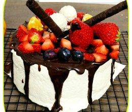 甘那许奶油蛋糕(6寸)的做法