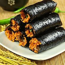 韩式猪肉紫菜卷饭这样做才好吃!