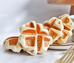 紫米华夫饼—酵母版#10分钟早餐大挑战#的做法