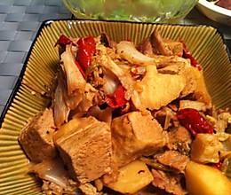辣烧冻豆腐白菜的做法