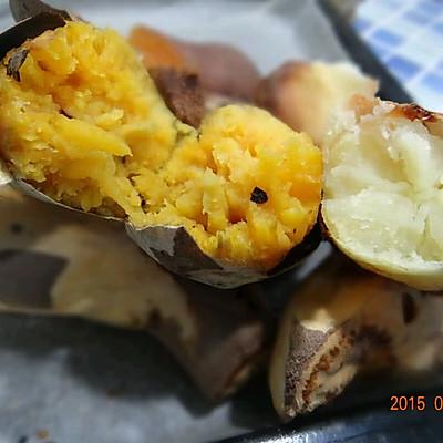 家常烤地瓜土豆的做法 步骤2