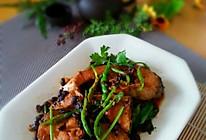 香焖豆豉草鱼块的做法