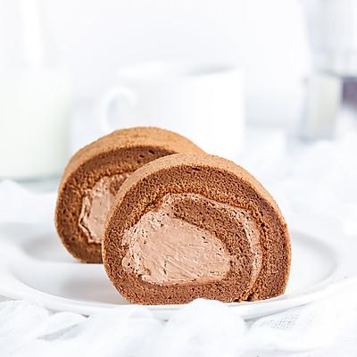 摩卡咸奶油蛋糕卷