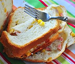 膳食纤维与肉都要兼得:火腿玉米沙拉吐司的做法