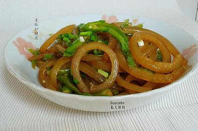 青椒炒猪皮