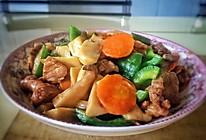 杏鲍菇胡萝卜青椒炒肉的做法