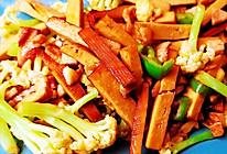 菜花炒豆干的做法